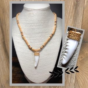 Surf Stone & Shell Necklace